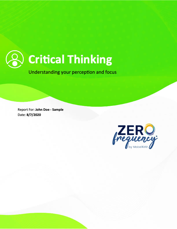Sample Critical Thinking Report