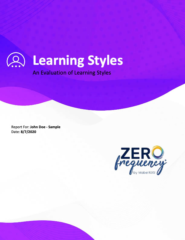 Sample Learning Styles Report